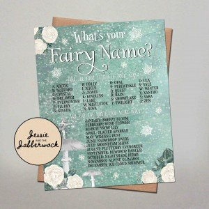 What's your Snow Fairy Name? Game Printable