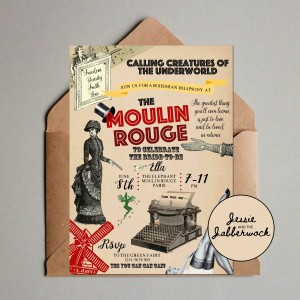 Moulin Rouge Invite