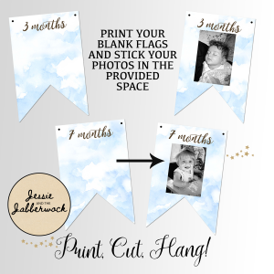 Bear Hunt First Year Photo Banner Printable