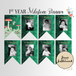 Fairy First Year Photo Banner Printable