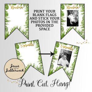 Wild Jungle First Year Photo Banner Printable