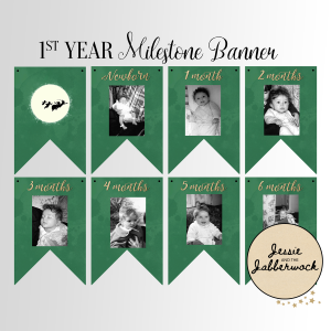 Neverland First Year Photo Banner Printable