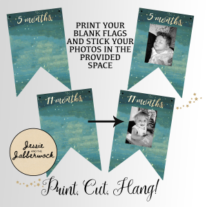First Year Neverland Photo Banner Printable