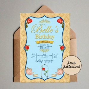 Beauty and the Beast Invite
