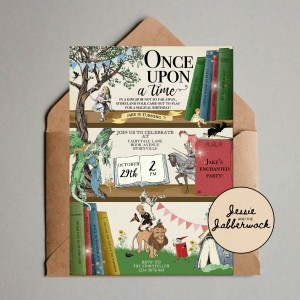 Fairy Tale Book Shelf Invite