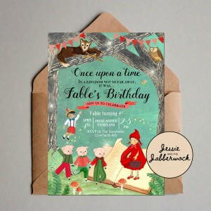 Fairy Tale Book Invite