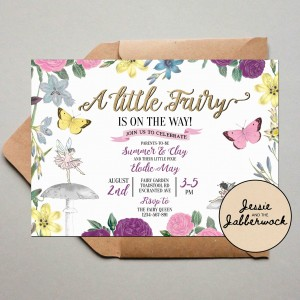 Floral Fairy Baby Shower Invite