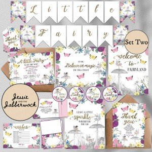 Floral Fairy Baby Shower Set