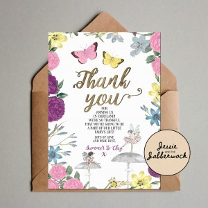 Fairy Baby Thank you Note