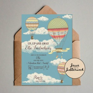 Hot Air Balloon Retirement Invite