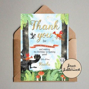 Magical Dragon Thank you Note