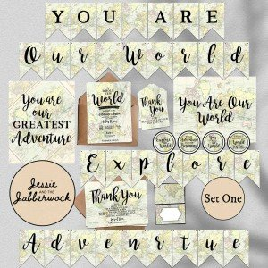 Adventure Awaits Baby Map Set