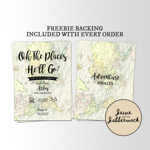 Oh the places he'll go Map Invite