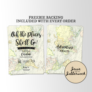 Oh the places she'll go Map Invite