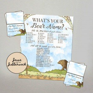 What's your Bear Name? Game Printable