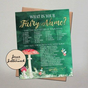 What's your Fairy Name? Game Printable