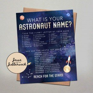 What's your Astronaut Name? Game Printable
