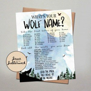 What's your Wolf Name? Game Printable