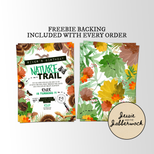 Autumn Nature Trail Invite