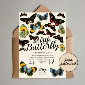Butterflies Invite