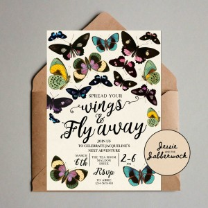 Butterflies Retirement Invite