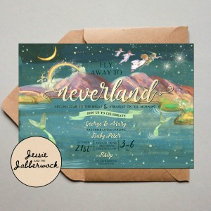 Fly away to Neverland Invite