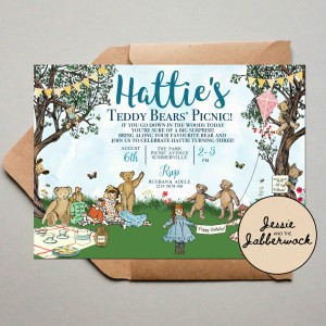 Dolly and Teddy Bears' Picnic Invite