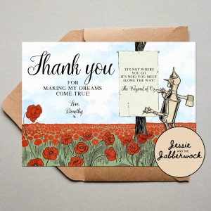 Wizard of Oz Thank you Note