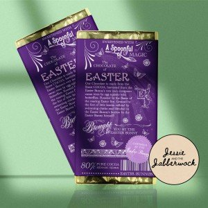 You make my heart flutter Easter Chocolate Bar