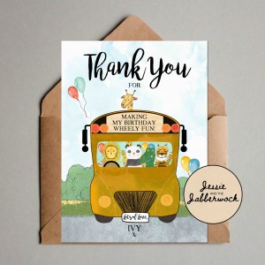 Yellow School Bus Thank you Note