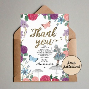 Floral Wonderland Baby Thank you Note