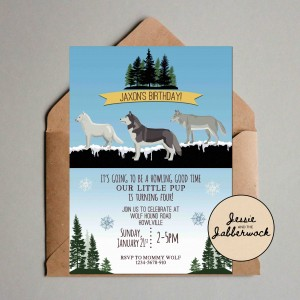 Snowy Wolves Invite